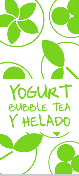 YOGURT BUBBLE TEA Y HELADO